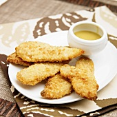 Chicken Tenders with Honey Mustard Dipping Sauce