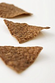 Three Multi Grain Chips on a White Background