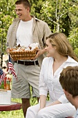 People at a 4th of July Picnic