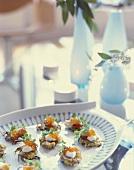 Potato Latkes on Serving Plate