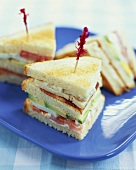 Club Sandwich with Toothpicks