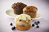 Three Assorted Muffins, Blueberry Muffin