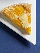 Slice of Peach Almond Tart
