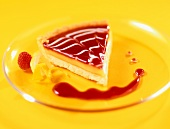 Slice of Layered Fruit Tart