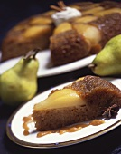 Slice of Pear Upside Down Cake