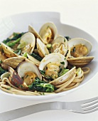 Clams over Linguini