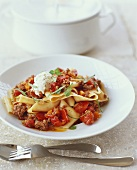 Pappardelle with Tomato Meat Sauce