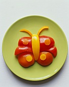 Butterfly Made from Red and Yellow Bell Pepper
