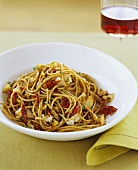 Whole Wheat Pasta with Sun Dried Tomatoes