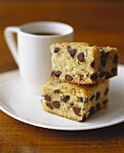 Chocolate Chip Coffee Cake with Cup of Coffee