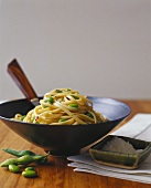 Bowl of Linguini with Peas