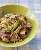 Pork and Vegetable Stir Fry with Rice