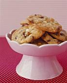 Chocolate Chip Cookies in Pedestal Bowl
