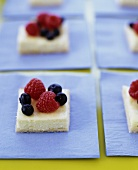 Cream Cheese Squares Topped with Berries