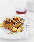 Grilled Pork Chop With Grilled Apples