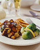Stuffing and Brussels Sprouts with Turkey
