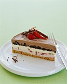 Slice of Layered Ice Cream Cake