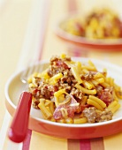 Beef and Macaroni Casserole on a Plate