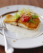 Pan Fried Fish Fillet with Cream Sauce