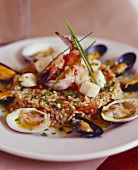 Elegant Shellfish and Rice Entree
