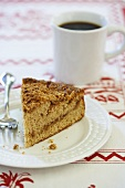 A Slice of Coffee Cake with Coffee
