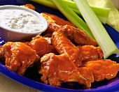 Buffalo Chicken Wings; Blue Cheese Dressing and Celery