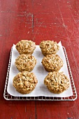 Apple Oat Muffins on Cooling Rack