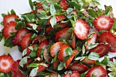 Remains of Sliced Strawberries; Stems
