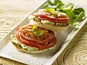 Tomato Pesto English Muffins