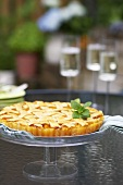 Apricot Crostata on Outdoor Table