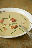 Bowl of Lobster Bisque with Chives