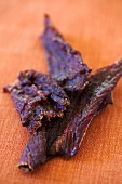 Beef Jerky on Orange