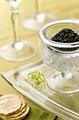 Caviar on Ice; Crackers