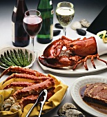 Surf and Turf; Lobster, Crab and Prime Rib
