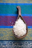 Basmati Rice in a Wooden Scoop
