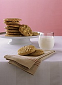Peanut Butter Cookies with Glass of Milk (Assorted Cookies)