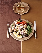 Nicoise Salad with Tiramisu