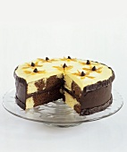 Brown Eyed Susan Cake with Slice Removed