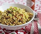 Dirty Rice (traditionelles Reisgericht aus der Cajun Küche)