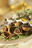 Fig Salad with Hard Boiled Egg