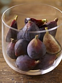 Fresh Figs in a Deep Glass Bowl