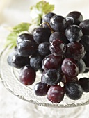 Fresh Red Grapes; Close Up