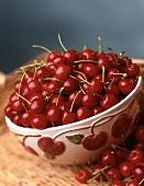 Cherry Bowl Full of Fresh Cherries