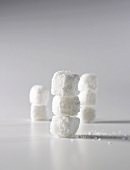 Three Towers of Three Stacked Sugar Cubes