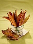 Container of Sweet Potato French Fries