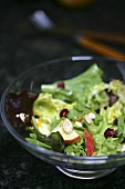 Green Salad with Apple Slices and Pumpkin Seeds