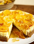 Citrus Cheesecake with Slice Removed