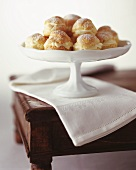 Cream Puffs on a Pedestal Dish