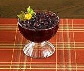 Bowl of Chunky Cranberry Sauce