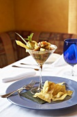 Ceviche in a Martini Glass